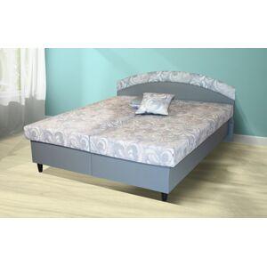 Čalúnená posteľ Corveta 180x200, šedá, vrátane matracov a úp