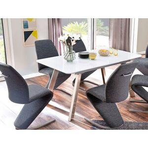 Jedálenský stôl Omero rozkladací (biela, strieborná)